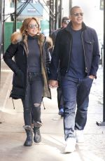 JENNIFER LOPEZ and Alex Rodriguez Out in New York 04/02/2017
