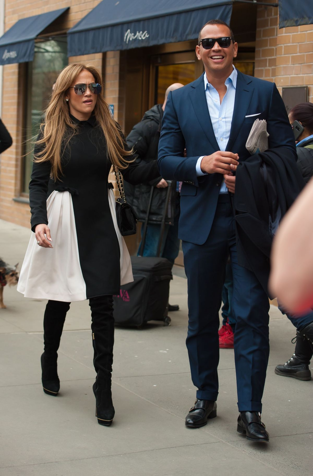 Jennifer Lopez And Her Boyfriend Alex Rodriguez Out In New York 04 01 2017 Hawtcelebs