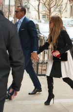 JENNIFER LOPEZ and Her Boyfriend Alex Rodriguez Out in New York 04/01/2017