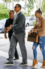 JENNIFER LOPEZ in Ripped Jeans Arrives at a Medical Office in Miami 04/22/2017