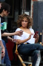 JENNIFER LOPEZ on the Set of Shades of Blue in New York 04/28/2017
