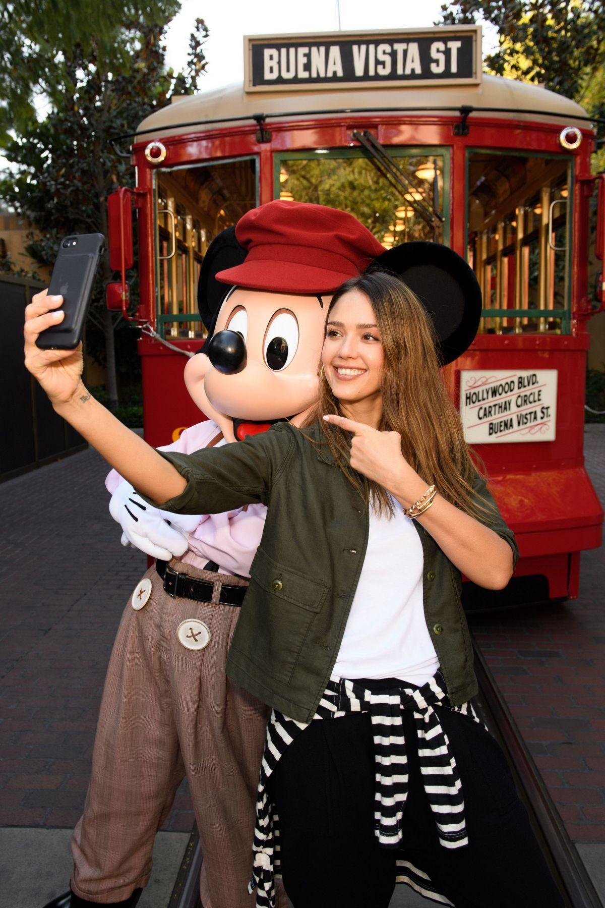 JESSICA ALBA at Disney California Adventure Park in Anaheim 03/31/2017