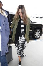 JESSICA ALBA at LAX Airport in Los Angeles 04/03/2017