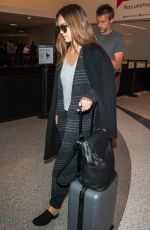 JESSICA ALBA at Los Angeles Interrnational Airport 04/16/2017
