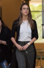 JESSICA ALBA Leaves an Office in Los Angeles 04/15/2017