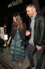 JESSICA ALBA Leaves Peppermint Club in West Hollywood 04/22/2017