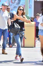 JESSICA ALBA Out at Disneyland in Anaheim 03/30/2017