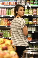 JESSICA ALBA Shopping at Whole Foods in Beverly Hills 04/09/2017