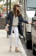 JESSICA BIEL Out and About in New York 04/27/2017