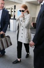 JESSICA CHASTAIN at LAX Airport in Los Angeles 04/23/2017