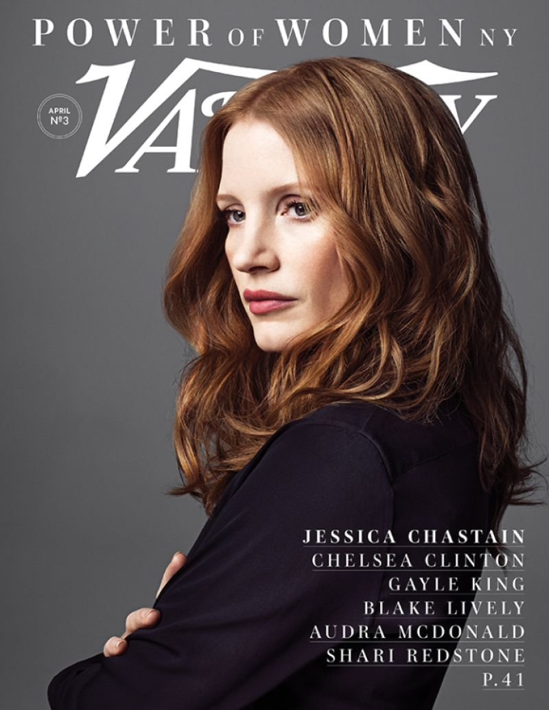 JESSICA CHASTAIN on the Cover of Variety
