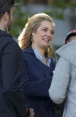JESSICA MARAIS on the Set of Love Child in Sydney 03/31/2017