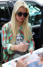 JESSICA SIMPSON at Los Angeles International Airport 04/18/2017