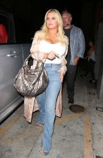 JESSICA SIMPSON Leaves Nobu Restaurant in West Hollywood 04/12/2017