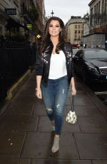 JESSICA WRIGHT Out for Dinner in London 04/27/2017