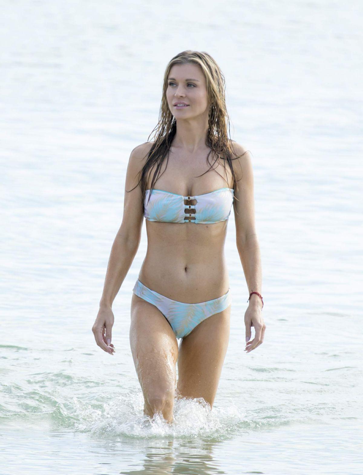 JOANNA KRUPA in Bikini at a Beach in Miami 04/12/2017