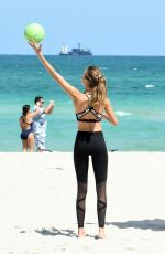 JOSEPHINE SKRIVER on the Set of VS Photoshoot in South Beach 04/25/2017