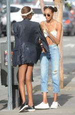 JOURDAN DUNN Out and About in Los Angeles 04/18/2017
