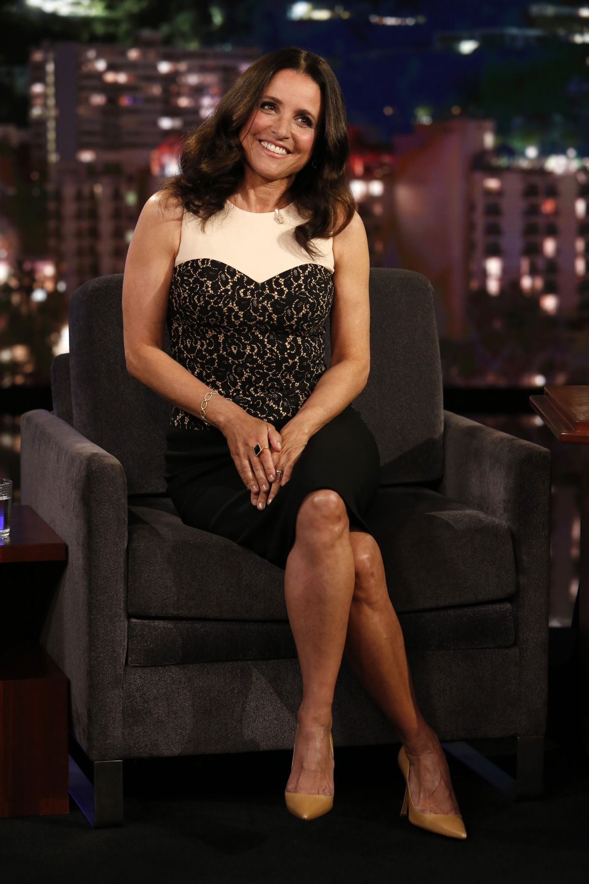 JULIA LOUIS-DREYFUS at Jimmy Kimmel Live 04/19/2017