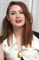 KAREN GILLAN at Guardians of the Galaxy Vol. 2 Press Conference in Los Angeles 04/20/2017