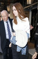 KAREN GILLAN Out and About in London 04/25/2017