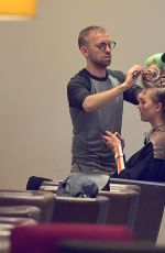 KARLIE KLOSS Gets Her Hair Done at a Salon in New York 04/30/2017