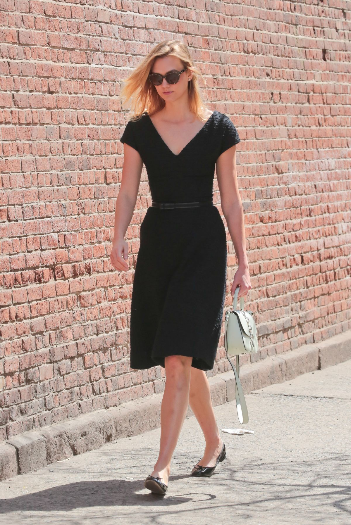 KARLIE KLOSS in Black Dress Out in New York 04/11/2017