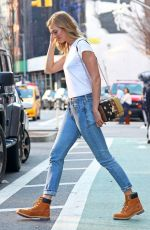 KARLIE KLOSS in Jeans Out in New York 04/12/2017