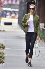 KARLIE KLOSS in Leggings Out in New York 04/12/2017