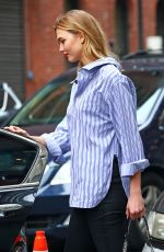 KARLIE KLOSS in Tight Jeans Out in New York 04/20/2017