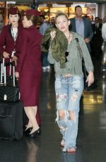 KATE HUDSON in Ripped Jeans at JFK Airport in New York 04/29/2017