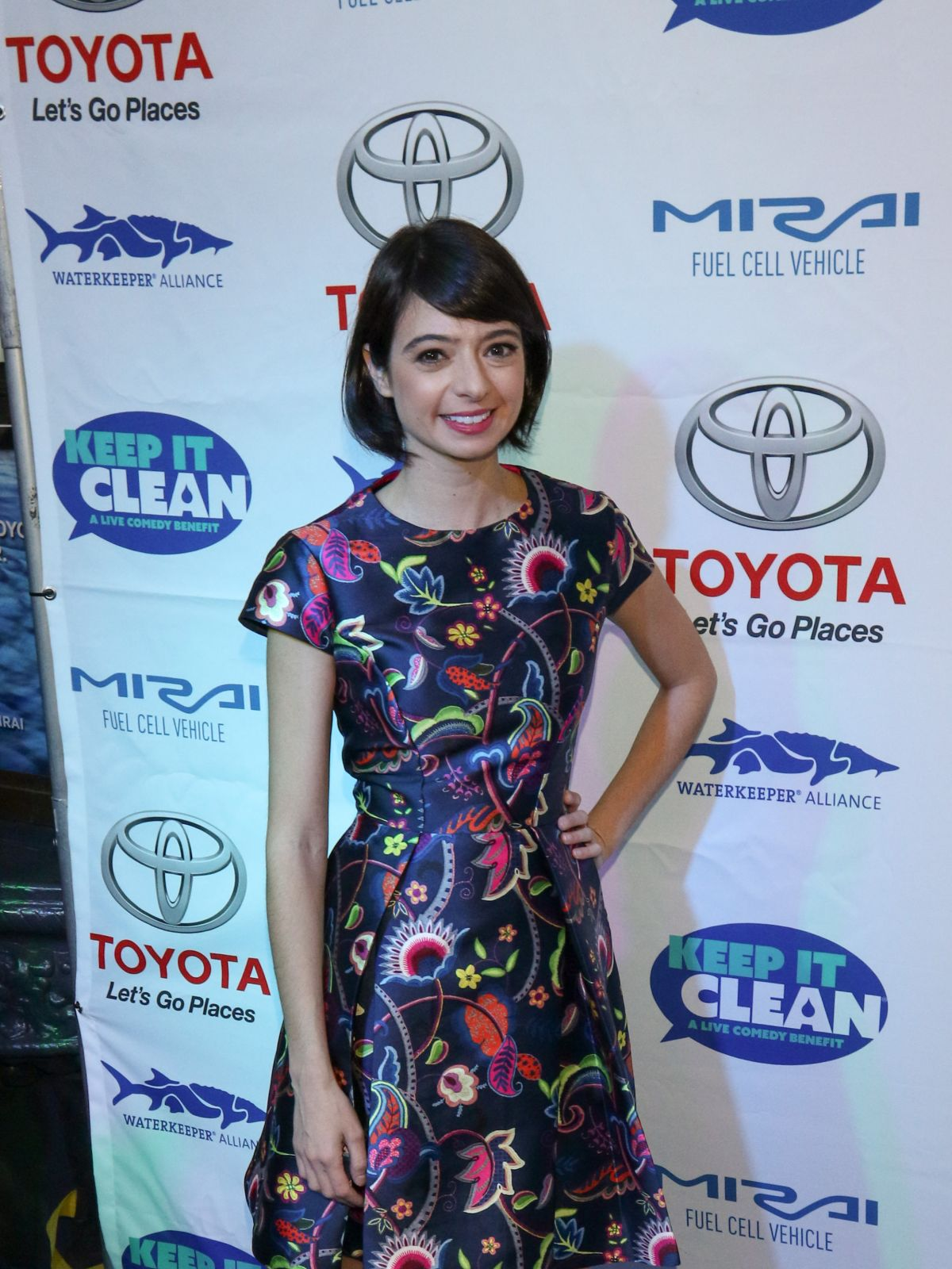 KATE MICUCCI at Keep It Clean Comedy Benefit in Los Angeles 04/21/2017