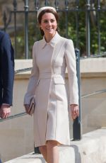 KATE MIDDLETON at Easter Sunday Church Service in Windsor 04/16/2017