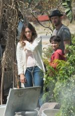 KATHARINE MCPHEE on the Set of Scorpion in Los Angeles 04/13/2017
