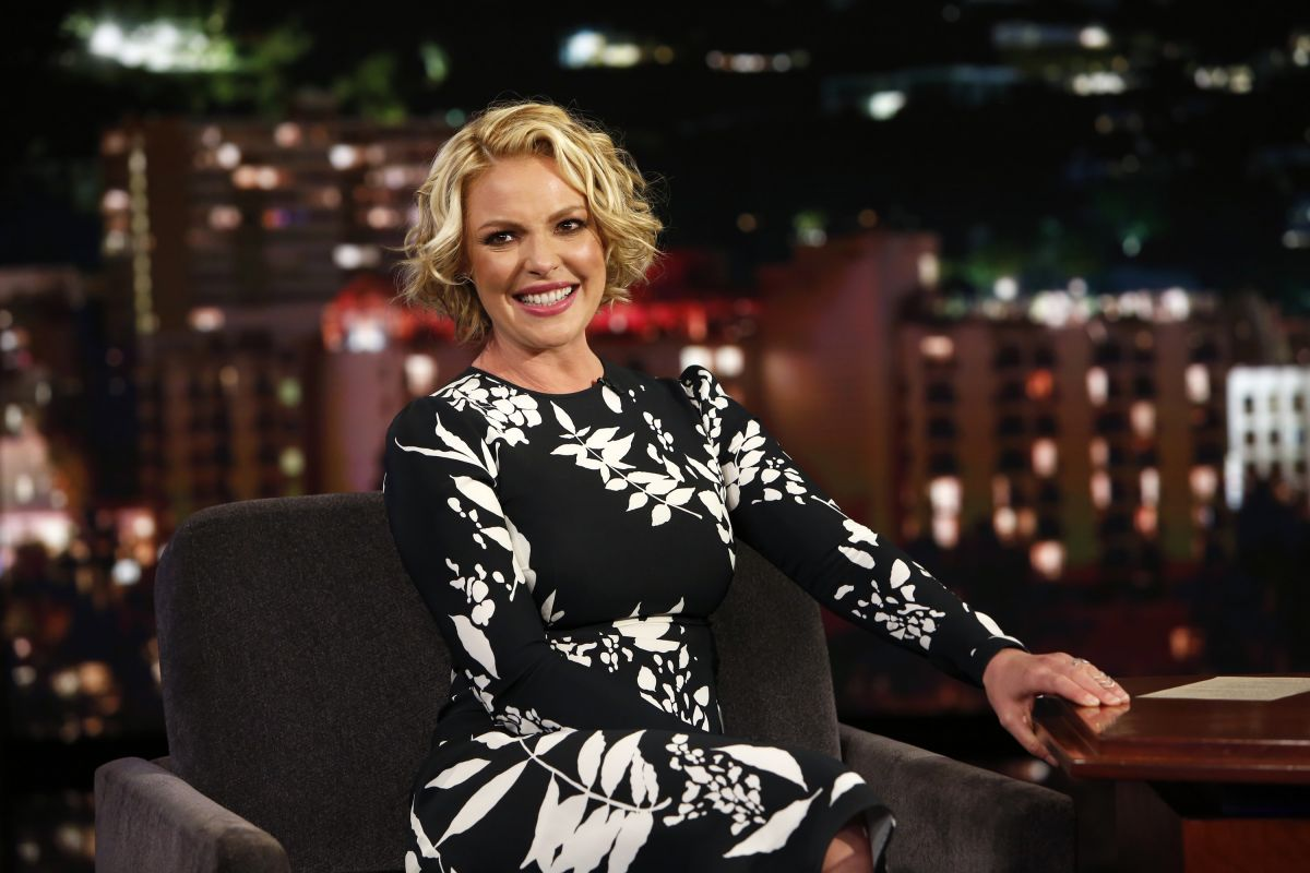 KATHERINE HEIGL at Jimmy Kimmel Live 04/18/2017
