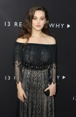 KATHERINE LANGFORD at 13 Reasons Why Premiere in Los Angeles 03/30/2017