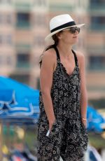 KATIE HOLMES Out at a Beach in Miami 04/17/2017