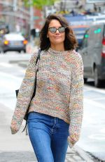 KATIE HOLMES Out in New York 04/25/2017