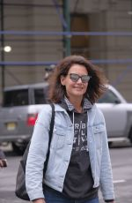 KATIE HOLMES Out in New York 04/26/2017