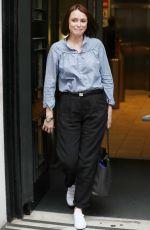 KEELEY HAWES Leaves BBC Radio Two Studios in London 04/21/2017