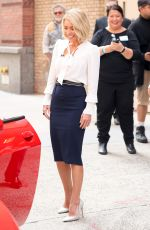 KELLY RIPA Leaves Live with Kelly Studio in New York 04/12/2017