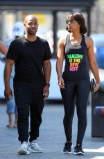 KELLY ROWLAND and Tim Witherspoon Out in Sydney 03/29/2017