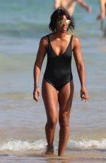KELLY ROWLAND in Swimsuit at a Beach in Sydney 03/29/2017