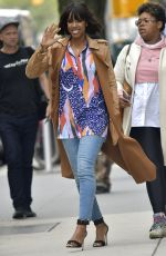 KELLY ROWLAND Leaves CBS Studios in New York 04/28/2017