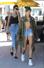KENDALL JENNER and HAILEY BALDWIN Out for Lunch in Beverly Hills 04/18/2017