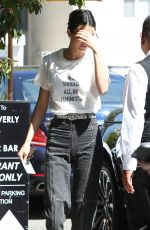 KENDALL JENNER Arrives at Honor Bar in West Hollywood 04/20/2017