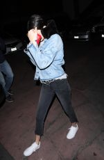 KENDALL JENNER Out for Dinner in Los Angeles 04/12/2017