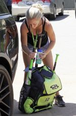 KENDRA WILKINSON at Her Son Baseball Game in Los Angeles 04/22/2/107