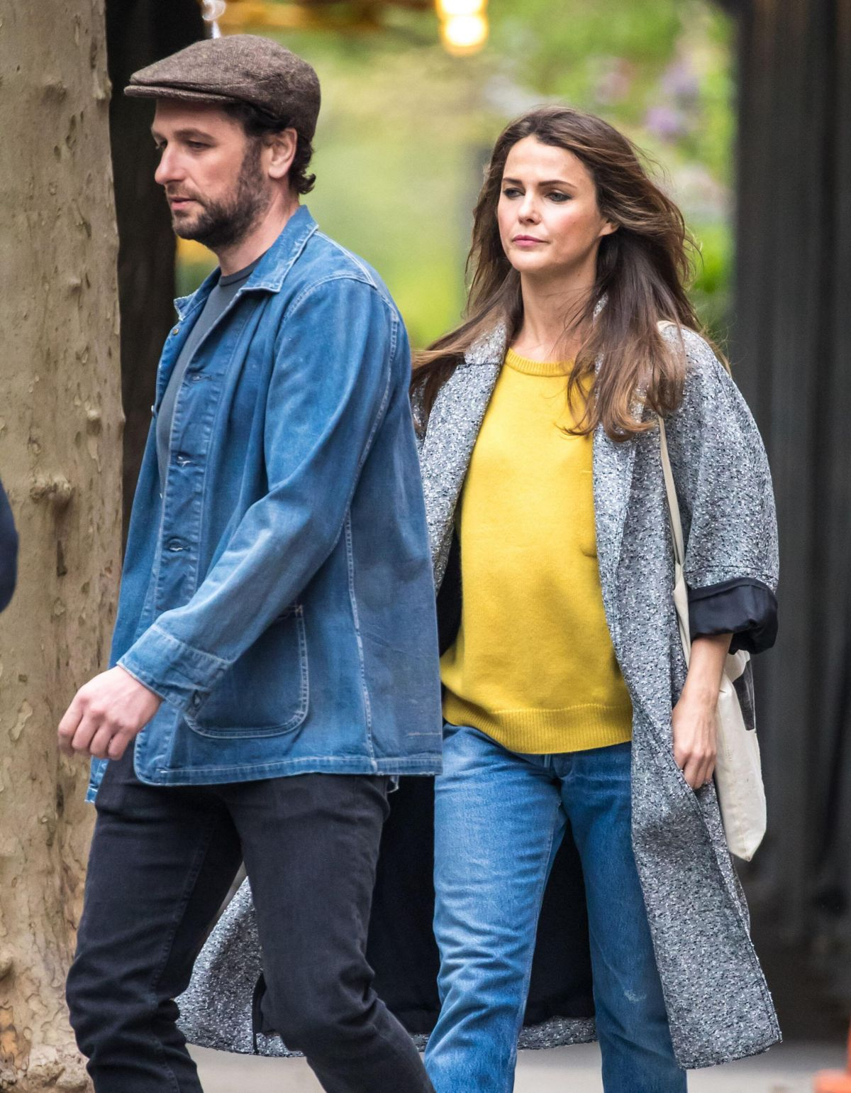 KERI RUSSELL and  Matthew Rhys Out and About in New York 04/24/2017
