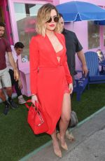 KHLOE KARDASHIAN All in Red Leaves Vanderpump Dogs in West Hollywood 04/21/2017